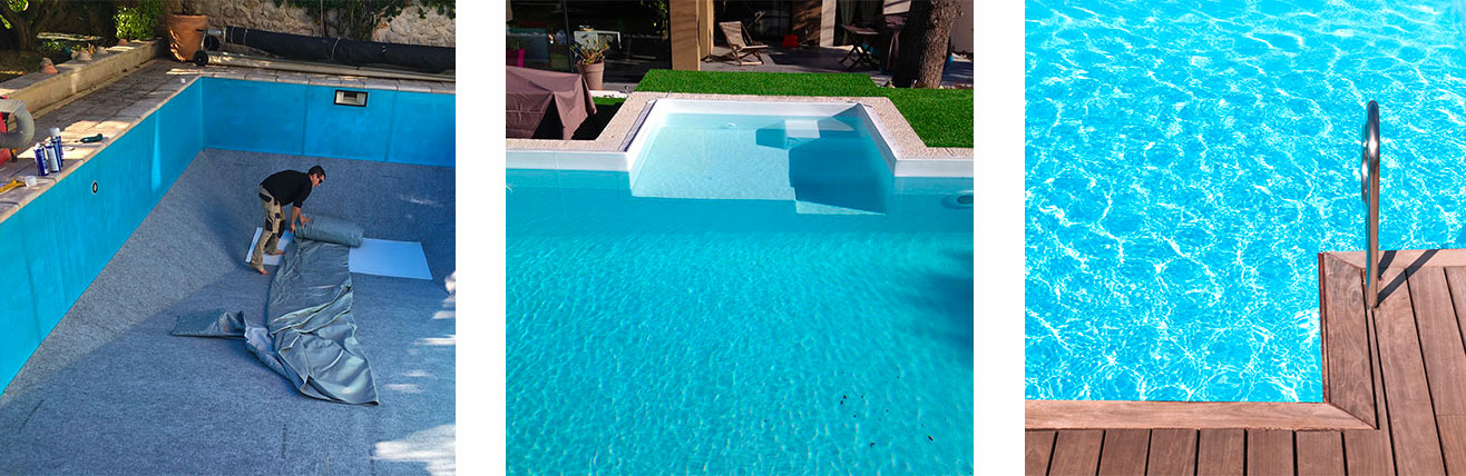 piscine o jardin remplacement et pose de liner montpellier n mes et environs. Black Bedroom Furniture Sets. Home Design Ideas