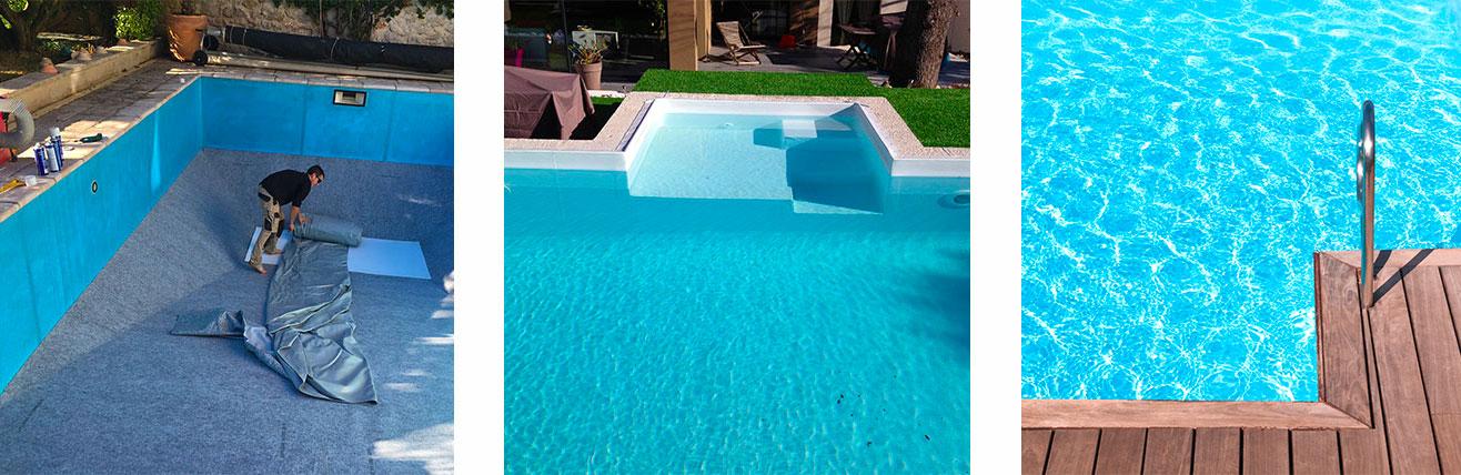 Piscine o jardin remplacement et pose de liner for Changer un liner de piscine
