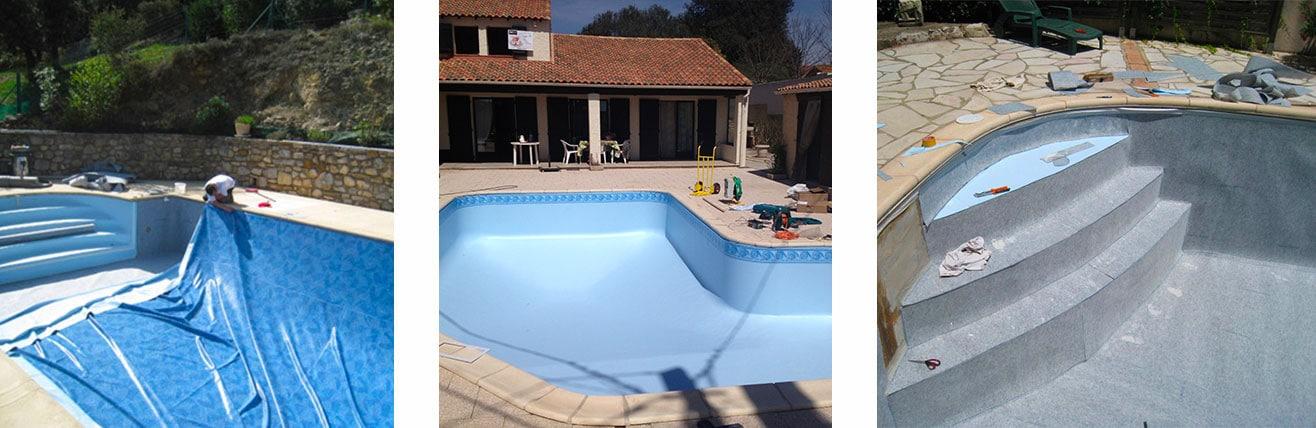 Piscine o jardin remplacement et pose de liner for Devis liner piscine sur mesure