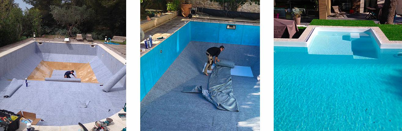 Piscine o jardin piscine structure b ton avec for Liner sur mesure pour bassin